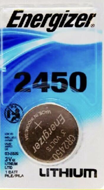 CR2450 3v Lithium Battery Energizer DL2450 Button Cell Coin for Watch - 1 Pc