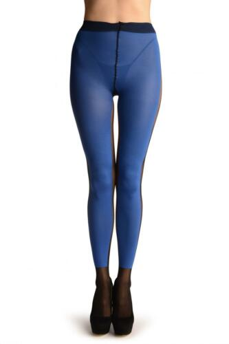 Blue Yoga Tights With Black Stripe and Socks T002992