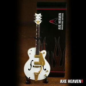 Axe Heaven Brian Setzer Signature White 1/4 scale Miniature Collectible Guitar