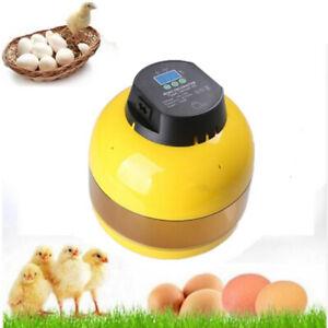 Vollautomatisch Inkubator 10 Eier Mini Brutmaschine mit LED Temperaturanzeige