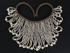Fantastic Classy Miriam Haskell Pearl Loops Bib Necklace (NK1932)