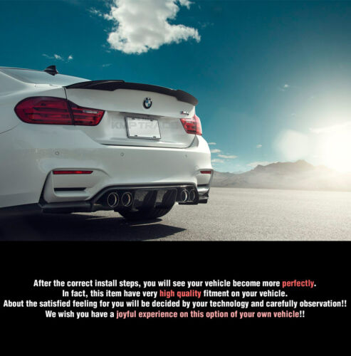 Real Carbon Fiber Rear Trunk Spoiler For BMW 2015-2017 4 Series F82 M4