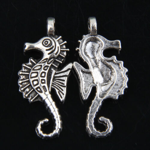 25pcs Tibetan Silver The hippocampus Pendants Charms for Jewelry Making