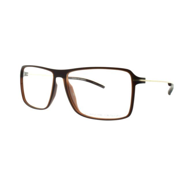 d324aa4f06 Porsche Design P8295 B Matte Brown Full Rim Square Men Optical Frames  Eyeglasses