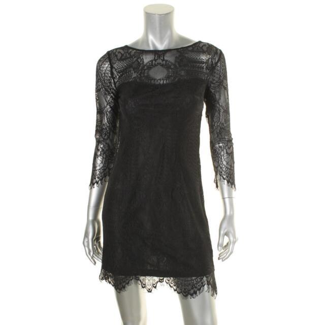 BB Dakota Womens Petite Everton V Back Lace Dress
