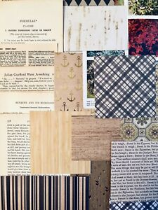 Junk-Journal-Supplies-75-items-Vintage-Book-Pages-Rustic-Scrapbook-Papers