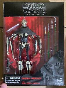 "Star Wars Black Series General Grievous 6"" Revenge of The Sith New IN STOCK Mint"