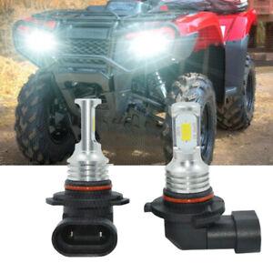 9005 6000K White LED Bulbs Headlight For Honda Foreman Rubicon 500 Rancher 420