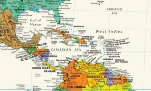 """Tyvek World Wall Map Colorful Contemporary Updated 28.5/"""" x 50/"""""""