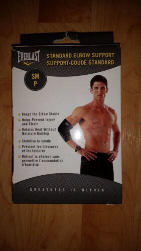 Elbow Support Brace EVERLAST Standard SM ME LG XL Black
