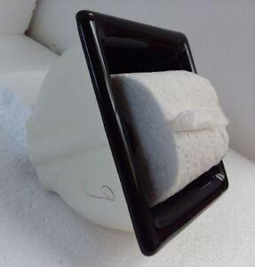 Recessed-Black-Ceramic-Toilet-Paper-TP-Holder-Mid-Century-Modern-Vintage-Retro