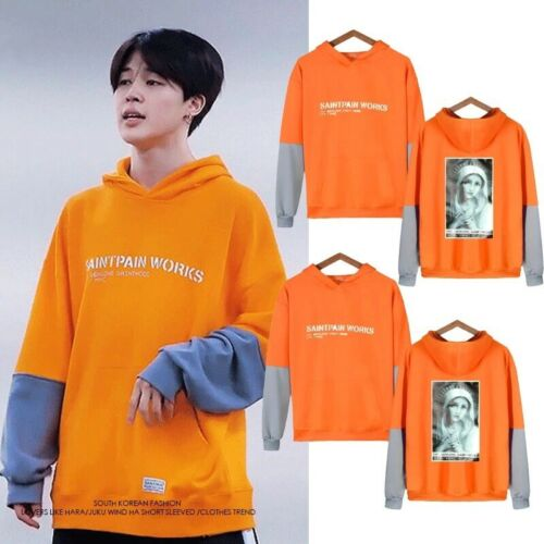 Jimin Bangtan Sudadera Con Capucha Suéter Kpop mapa de moda coreana de Soul 7 persona quien