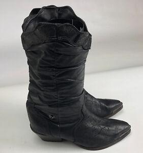 7851a89098fe7 ZODIAK Women's Leather Slouch Cowboy Boot Size 7.5 M Style 617032 | eBay