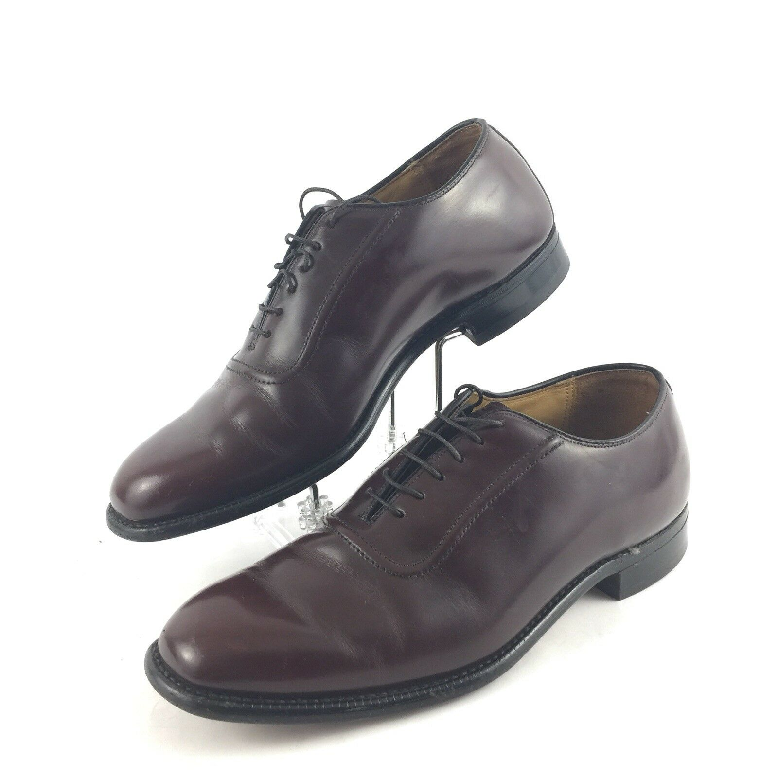 Johnston & Murphy Men Size 8 M Oxford shoes Leather Lace Up Cap Toe Made In USA