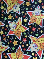 2005 Nintendo Pokemon Fabric 9 (1/4 Of A Yard) Out Of Print