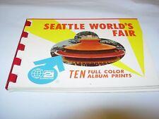 1962 Seattle Worlds Fair Century 21 Exposition Ten Natural Color PRINTS Album