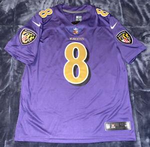 Details about Lamar Jackson Baltimore Ravens Color Rush LIMITED Authentic Jersey Purple Gold