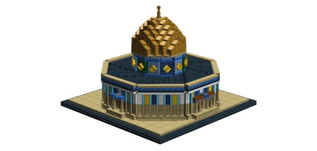 Pdf Moc Dome Of The Rock Lego Instruction Manual Ebay