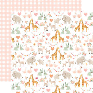 New Echo Park Paper WELCOME BABY GIRL 12x12 Scrapbook Cardstock Collection Kit
