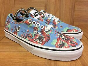 c28287ec02 RARE🔥 VANS x Star Wars YODA Aloha Floral Baby Blue Shoes Authentic ...