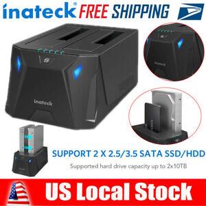 "Inateck USB 3.0 SATA HDD SSD Docking Station Offline Clone 2.5""/3.5"" Hard Drive"