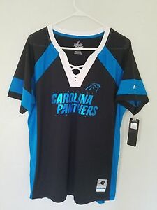 NEW-MAJESTIC-NFL-Team-Apparel-CAROLINA-PANTHERS-V-Neck-Jersey-Shirt-Womens-NWT