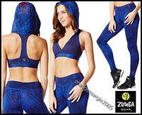 Zumba 2pc.set Tri-me Long Leggings +oh My Hoodness Racerback Bra Topelitezwear