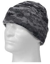 Subdued Urban Digital Camo Winter Watch Cap - Acrylic Digi Camouflage Ski Hat