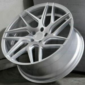 18x9-30-AODHAN-LS008-Wheels-5x100-18-034-Silver-Machined-Rims-Set-4