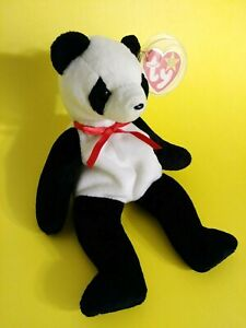 TY Beanie Babies Fortune the Black /& White Panda Bear Retired 1999 Vintage Rare Sold