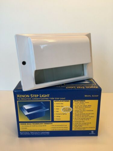 Xenon Step Light Scoop National Specialty Lighting NOS   3 Colors Available  White