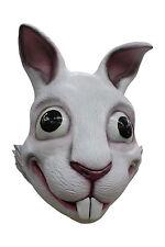 White Rabbit Adult Latex Mask Vivid Cartoon Anime Cosplay Costume Accessory