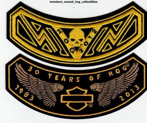 2012 /& 2013 HOG Members Rocker Patches HARLEY DAVIDSON OWNERS GROUP HD MC club