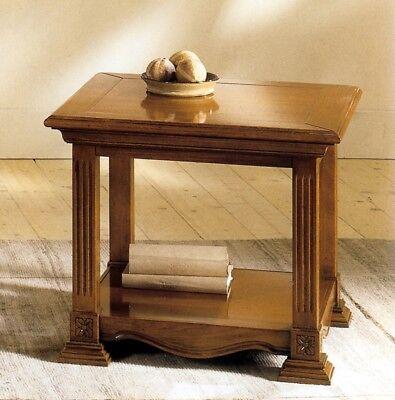 Schietto Tavolino Impero Quadrato In Legno C/intarsi X Soggiorno Sala Divano Salotto H790