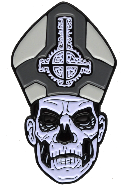 Trick or Treat Ghost Papa Emeritus II Satanic Metal Music Enamel Pin BXGM106