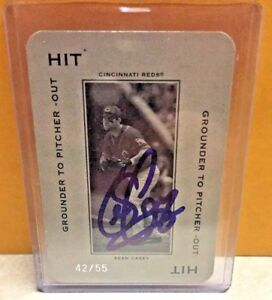 SEAN CASEY ON-CARD AUTOGRAPH***1 OF 1!***AUTO ON #42/55***2005 PLAYOFF HIT CIN