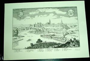 Neuburg-Donau-alte-Ansicht-Merian-Druck-Stich-1650-Staedteansicht-Bayern