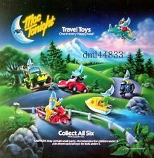 1990 McDonalds Mac Tonight Travel MIP Complete Set of 6, Boys & Girls, 3+