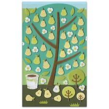 ✰ CUTE PEAR TREE FELT STICKERS Fruit Sheet Raised Fuzzy Craft Scrapbook Sticker