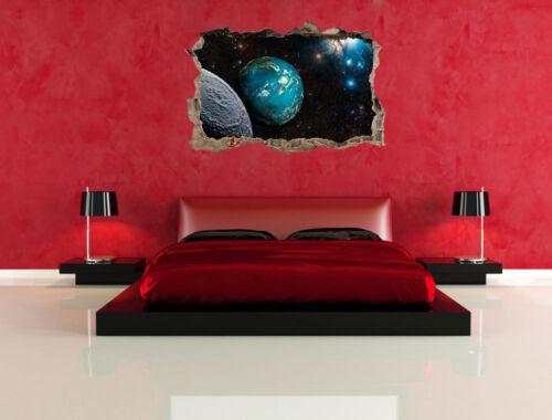 3d-Look avance murales pegatinas-sticker Planeta Tierra en el cosmos