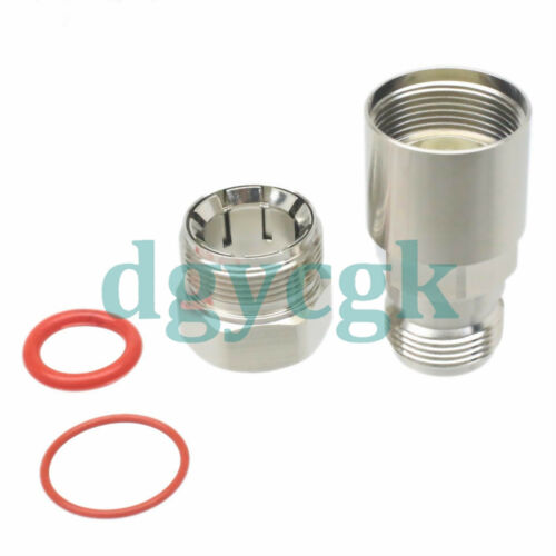 """10pcs connector N female jack clamp 1//2/"""" corrugated cable straight"""