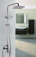 CHROME TWIN HEAD STANDING SHOWER MIXER THERMOSTATIC BATHROOM BATH SET TAP17