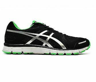 Mens Asics Gel Attract Trainers - T23RQ9093- Black Silver Neon Trainers
