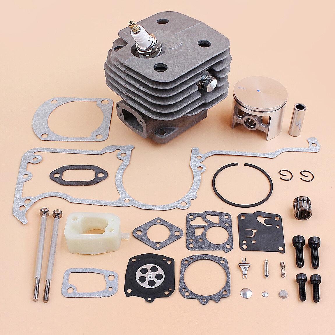 Kit de junta de Pistón Cilindro 52mm Nikasil ajuste 630 súper Jonserojo gran diámetro motosierra