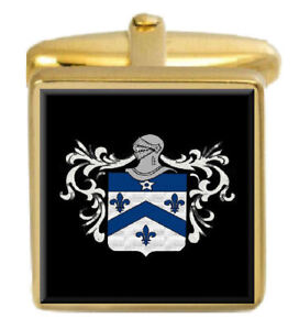 Select Gifts Hughes Wales Heraldry Crest Sterling Silver Cufflinks Engraved Message Box