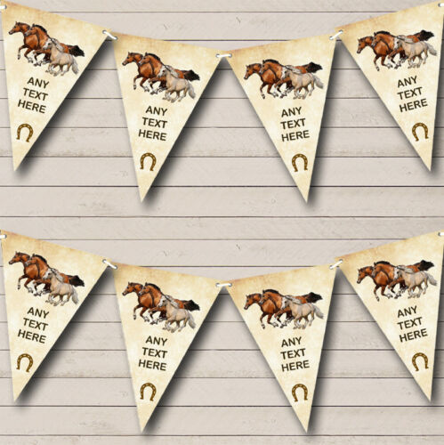 Vintage Horses Personalised Birthday Party Bunting