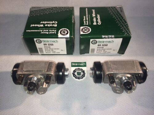 Rear Wheel Brake Drum Cylinders Set RTC3169+68 Bearmach Land Rover Defender 90