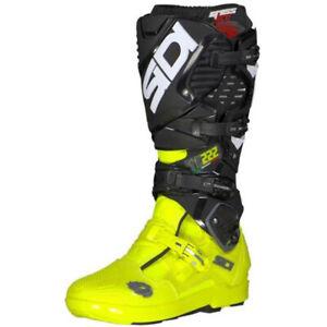Details about SIDI Crossfire 3 SRS Motocross Boots Cairoli C222 Black Fluo Yellow US 9.5 EU 43