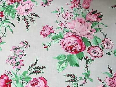 Small Red Roses Flowers on Red Quilting Fabric by Yard  #589
