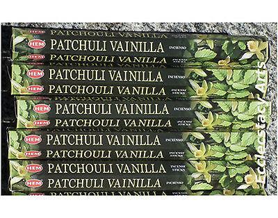 HEM PATCHOULI VANILLA Incense stick : Choose: 20 40 80 100 or 120 Sticks 60